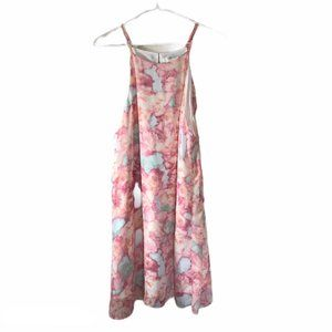 Floral Watercolor Sleeveless Swing Dress Size L
